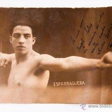 Coleccionismo deportivo: FOTOGRAFIA ANDRE ESPARRAGUERA DEDICADA EN MARSEILLE 1930. Lote 39353301