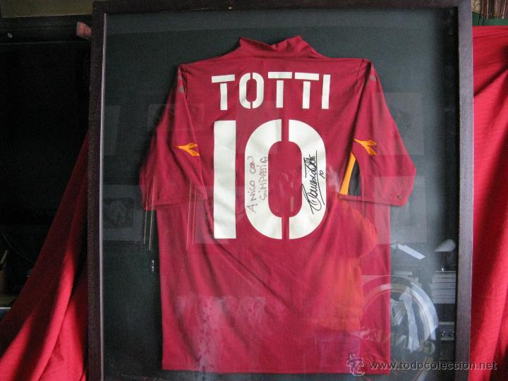 camiseta de futbol firmada y enmarcada de franc - Comprar Autógrafos ...