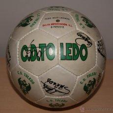 Coleccionismo deportivo: BALÓN OFICIAL C.D.TOLEDO AÑO 1994-95 PROMOCIÓN DE ASCENSO A 1ªDIVISIÓN CON TODAS LAS FIRMAS.. Lote 43460031