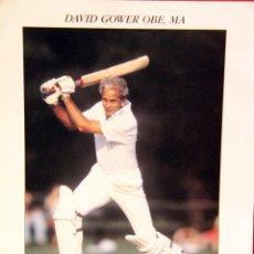 Coleccionismo deportivo: DAVID GOWER, AUTOGRAFO -DOCC-. Lote 45329609