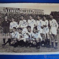 Coleccionismo deportivo: (F-916)FOTOGRAFIA DEL MESTALLA C.F.AÑOS 50 CON AUTOGRAFOS DE TODO SUS JUGADORES. Lote 45388814