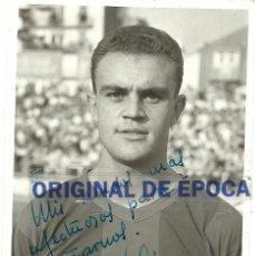 Coleccionismo deportivo: (F-0716)FOTOGRAFIA DE BRUGUE,C.F.BARCELONA,DEDICADA ( 11 X 8 CM.). Lote 50122892