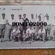 Coleccionismo deportivo: POSTAL CD TENERIFE 1942-43 CON DEDICATORIA DE NESTOR A MANOLO - RARISIMA. Lote 50660426