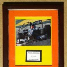 Coleccionismo deportivo: MICHAEL SCHUMACHER - AUTOGRAFO ORIGINAL FOTO MERCEDES - ENMARCADO 35 X 30. Lote 47828728