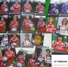 Coleccionismo deportivo: ALEMANIA 25 TARJETAS DE LA PLANTILLA JUGADORES DEL SC FREIBURF FIRMADAS- AUTOGRAFOS ORIGINALES. Lote 52449905