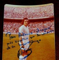 Coleccionismo deportivo: FOTOGRAFIA DEL JUGADOR DE FUTBOL A. VITORIA, CON AUTOGRAFO MANUSCRITO, REAL MADRID, MIDE 14,5 X 9 CM. Lote 57043147