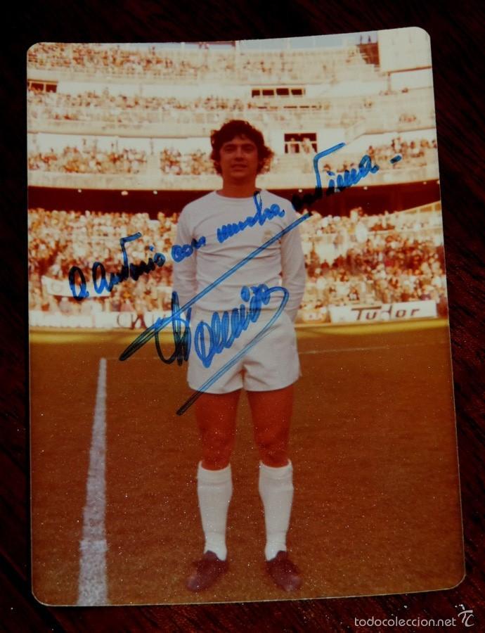 FOTOGRAFIA DEL JUGADOR DE FUTBOL JUAN CARLOS TOURIÑO CANCELA, CON AUTOGRAFO MANUSCRITO, REAL MADRID, (Coleccionismo Deportivo - Documentos de Deportes - Autógrafos)