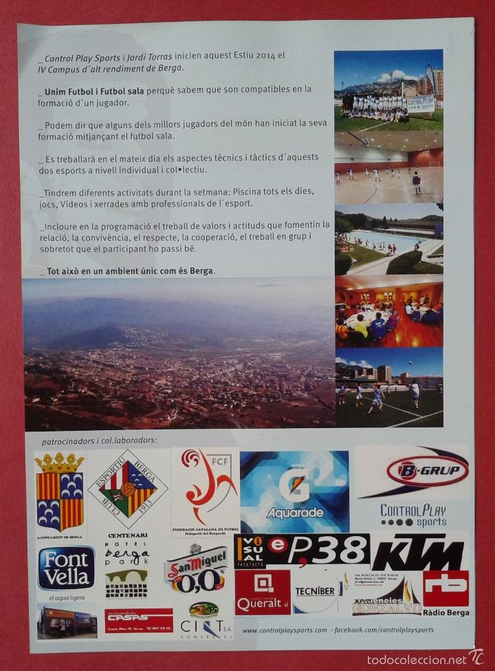 Coleccionismo deportivo: FLYER FIRMADO A BOLIGRAFO 21 X 15 - Foto 2 - 257714940