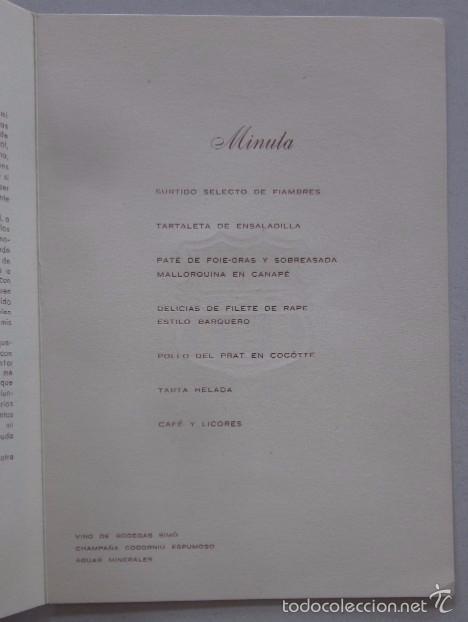 Coleccionismo deportivo: CARTA CON AUTOGRAFO DE LA CENA HOMENAJE A ANTONIO RAMALLETS - C.F. BARCELONA AÑO 1962 - Foto 4 - 58012288