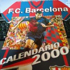 Coleccionismo deportivo: ESPECTACULAR CALENDARIO 2000 FUTBOL CLUB FC BARCELONA F.C BARÇA CF TODAS LAS FIRMAS DE JUGADORES LEO. Lote 58215508