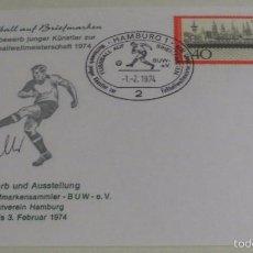 Coleccionismo deportivo: ALEMANIA 1974 SOBRE CONMEMORATIVO COPA MUNDIAL DE FUTBOL ALEMANIA 74- AUTOGRAFO FRITZ WALTER- FDC. Lote 58349553
