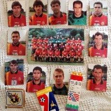 Coleccionismo deportivo: SELECCIÓN ESPAÑOLA FUTBOL LOTE COMPLETO AUTOGRAFOS Y ENTRADA EN EL MUNDIAL USA94. Lote 65624486