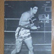 Coleccionismo deportivo: FOTO AUTOGRAFIADA DE URTAIN BOXEO (13,5 CM X 9 CM).. Lote 69264485