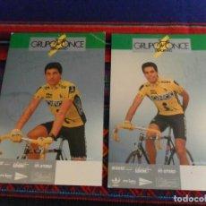 Coleccionismo deportivo: POSTAL GRUPO ONCE EDUARDO CHOZAS Y SANTOS HERNÁNDEZ. REGALO CALENDARIO REYNOLDS.. Lote 83829500