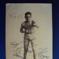 Coleccionismo deportivo: (F-170515)POSTAL FOTOGRAFICA DE BOXEO - A.VILLAGRASA - DEDICADA. Lote 85324532
