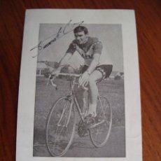 Coleccionismo deportivo: CICLISMO. FOTO FIRMADA DE GEORGES VANDENBERGHE. BELGICA.. Lote 86842376