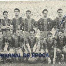 Coleccionismo deportivo: (F-170622)TARJETA COMERCIAL ALMACENES EL BARATO-C.F.BARCELONA CON AUTOGRAFOS AÑOS 50. Lote 88939496