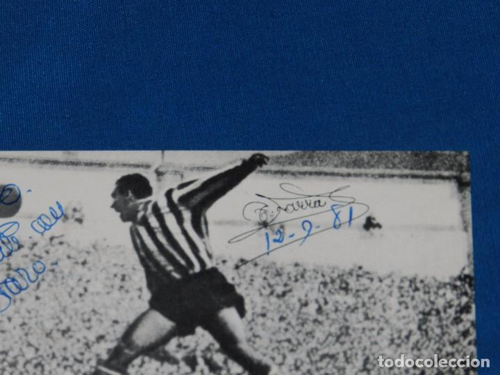 Coleccionismo deportivo: (AUT) ATH BILBAO - AUTOGRAFO ORIGINAL DE TELMO ZARRA 1981 , SOBRE + PROPAGANDA AUTOGRAFIADA - Foto 2 - 93257715