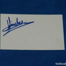 Coleccionismo deportivo: (AUT) FC BARCELONA AUTOGRAFO DE SANCHEZ AÑOS 80 , 9'5 X 6 CM, BUEN ESTADO. Lote 93282850