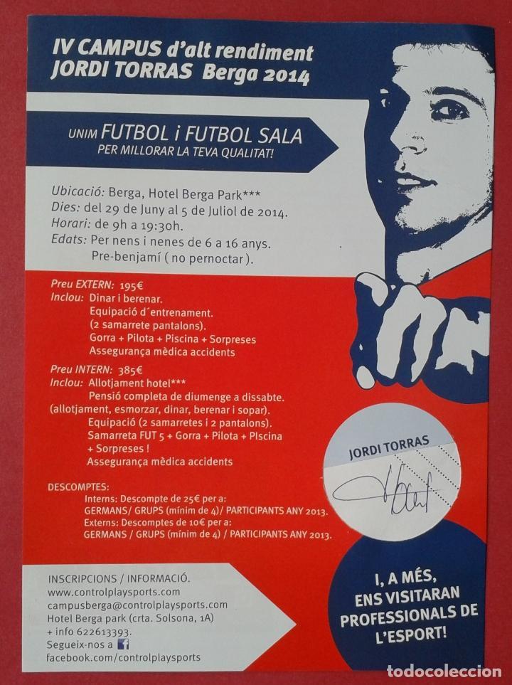 JORDI TORRAS BADOSA - FUTBOL SALA - AUTOGRAFO FIRMADO A MANO (Coleccionismo Deportivo - Documentos de Deportes - Autógrafos)