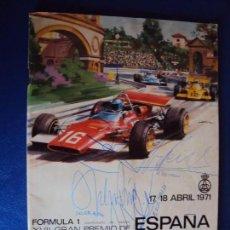 Coleccionismo deportivo: (F-170770)PROGRAMA XVII GRAN PREMIO FORMULA 1,AUTOGRAFOS E.FITIPALDI,H.PESCAROLO,A.SOLER ROIG,ETC.. Lote 93858135