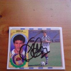 Coleccionismo deportivo: CROMO AUTOGRAFIADO GRACIA (REAL SOCIEDAD).. Lote 98187747