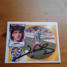 Coleccionismo deportivo: CROMO AUTOGRAFIADO IMANOL (REAL SOCIEDAD).. Lote 98188043