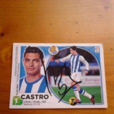 Coleccionismo deportivo: CROMO AUTOGRAFIADO CASTRO (REAL SOCIEDAD).. Lote 98188919