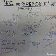 Collectionnisme sportif: F.C. DE GRENOBLE (GRENOBLE). EQUIPE SAISON 1960-61. SIGNATURES ORIGINALES. Lote 99973763