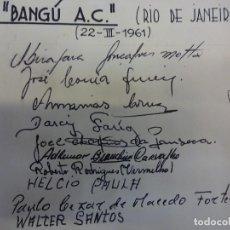 Coleccionismo deportivo: BANGU A.C.. (RIO DE JANEIRO). TEMPORADA 1961. AUTÓGRAFOS ORIGINALES. Lote 99981303