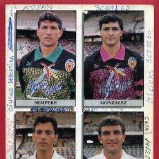 Coleccionismo deportivo: FOTO FUTBOL , COLECCION VALENCIA CF , TIPO REVISTA AUTOGRAFOS , CON AUTOGRAFO , ORIGINAL , AT48. Lote 100745135