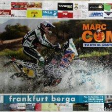 Coleccionismo deportivo: POSTER MARC COMA 100 X 70 - FIRMADO Y DEDICADO. Lote 232438220