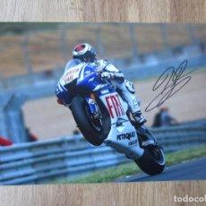 Colecionismo desportivo: JORGE LORENZO. MOTOS. MOTOCICLISMO. FIRMA AUTÓGRAFO. ORIGINAL.CERTIFICADO DE AUTENTICIDAD. Lote 108912067