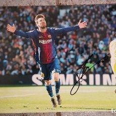 Coleccionismo deportivo: FC BARCELONA BARÇA FOTO HQ FIRMADA LEO MESSI VS REAL MADRID 23/12/2017. Lote 109496667