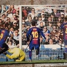 Coleccionismo deportivo: FC BARCELONA BARÇA FOTO HQ FIRMADA LEO MESSI, SUAREZ Y RAKITIC - VS REAL MADRID 23/12/2017. Lote 109496771