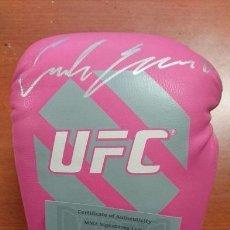 Coleccionismo deportivo: GUANTE DE BOXEO DE LA UFC-MMA FIRMADO POR LA CAMPEONA CARLA ESPARZA CON CERTIFICADO DE LA MMA. Lote 113004987