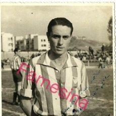 Coleccionismo deportivo: FOTOGRAFIA ORIGINAL DE EPOCA DEL JUGADOR DEL MALAGA (ALBERTO AMOROS DURO) AÑO 1943 CON DEDICATORIA. Lote 113311223