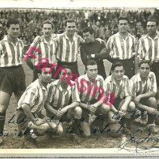 Coleccionismo deportivo: FOTOGRAFIA ORIGINAL DE EPOCA DEL GRANADA DE FUTBOL AÑO 1944 CON DEDICATORIA DE UNO DE LOS JUGADORES. Lote 113311867