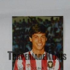 Coleccionismo deportivo: FOTO FOTOGRAFIA JUGADOR CLUB DEPORTIVO LOGROÑES. SANTIAGO GARCIA BARRERO. FIRMADA. TDKP1. Lote 113890319