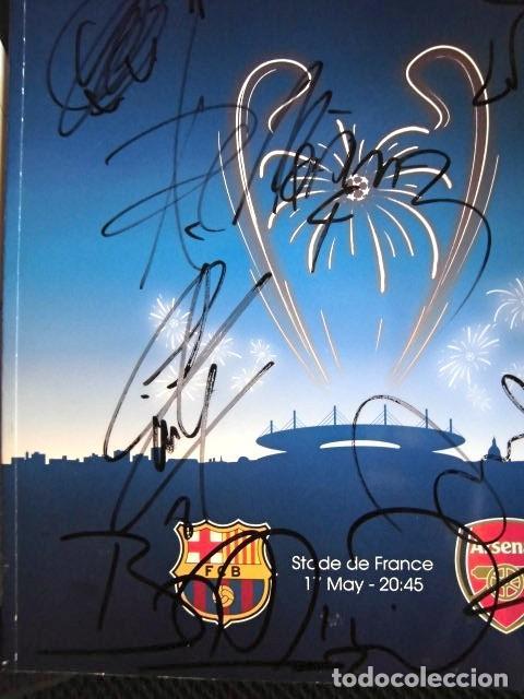 Coleccionismo deportivo: FCBARCELONA PROGRAMA FIRMADO PLANTILLA BARÇA FINAL PARIS 2006 CERTIFICADO ORIGINAL FUTBOL CHAMPIONS - Foto 5 - 114338047