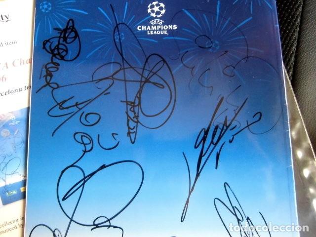 Coleccionismo deportivo: FCBARCELONA PROGRAMA FIRMADO PLANTILLA BARÇA FINAL PARIS 2006 CERTIFICADO ORIGINAL FUTBOL CHAMPIONS - Foto 7 - 114338047