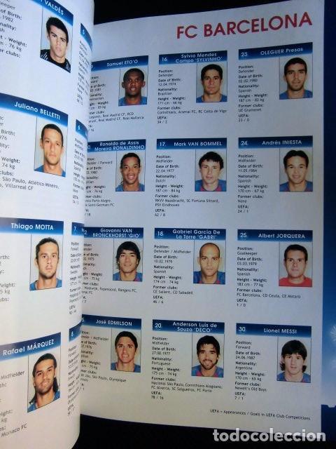 Coleccionismo deportivo: FCBARCELONA PROGRAMA FIRMADO PLANTILLA BARÇA FINAL PARIS 2006 CERTIFICADO ORIGINAL FUTBOL CHAMPIONS - Foto 16 - 114338047