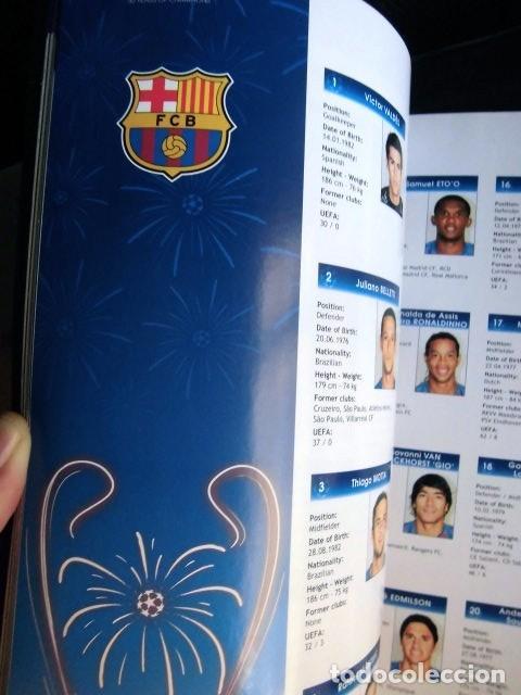 Coleccionismo deportivo: FCBARCELONA PROGRAMA FIRMADO PLANTILLA BARÇA FINAL PARIS 2006 CERTIFICADO ORIGINAL FUTBOL CHAMPIONS - Foto 17 - 114338047