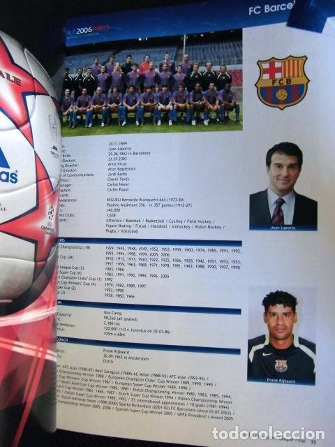 Coleccionismo deportivo: FCBARCELONA PROGRAMA FIRMADO PLANTILLA BARÇA FINAL PARIS 2006 CERTIFICADO ORIGINAL FUTBOL CHAMPIONS - Foto 18 - 114338047