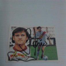 Coleccionismo deportivo: CROMO AUTOGRAFIADO FERREIRA (RAYO VALLECANO).. Lote 114834983
