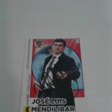 Coleccionismo deportivo: CROMO AUTOGRAFIADO JOSÉ LUIS MENDILIBAR (LEVANTE).. Lote 115304023