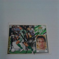 Coleccionismo deportivo: CROMO AUTOGRAFIADO ALFONSO (BETIS).. Lote 115309131