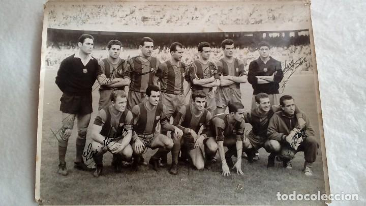 AUTOGRAFOS ORIGINALES DE LOS JUGADORES DEL F.C.BARCELONA DE LOS AÑOS 50 DE KUBALA, RAMALLETS Y ETC (Coleccionismo Deportivo - Documentos de Deportes - Autógrafos)
