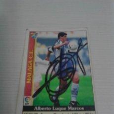 Coleccionismo deportivo: CROMO AUTOGRAFIADO LUQUE (MÁLAGA).. Lote 122097003
