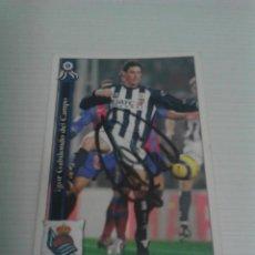Coleccionismo deportivo: CROMO AUTOGRAFIADO GABILONDO (REAL SOCIEDAD).. Lote 122108451